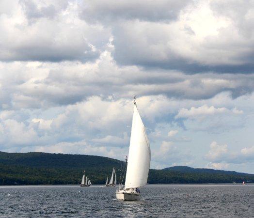 Schooner Appledore II Windjammer Cruise: View from the boat.