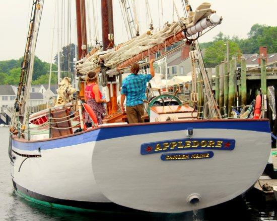 Schooner Appledore II Windjammer Cruise: Appledore at the dock.