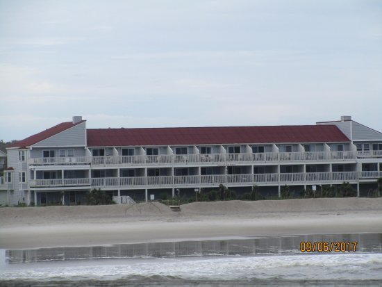 Beach view of Ocean Crest Motel
