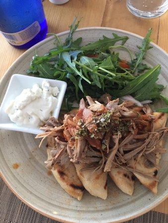 Pulled Lamb with Rocket Salad
