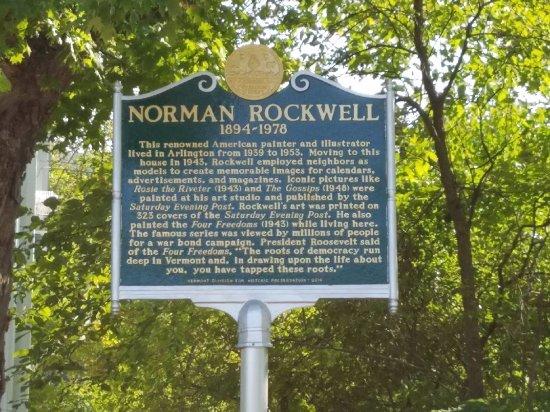 Inn on Covered Bridge Green: Historic Norman Rockwell plaque