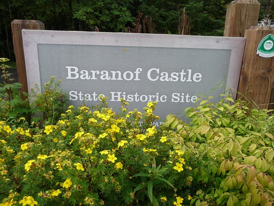 Baranof Castle State Historical Site: Sign that is almost hidden