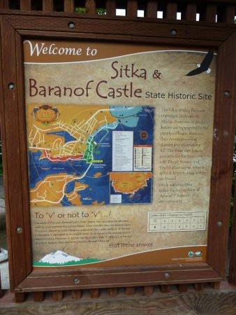 Baranof Castle State Historical Site: Explanatory sign out front