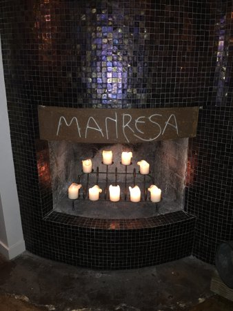 Los Gatos, CA: Manresa Fireplace