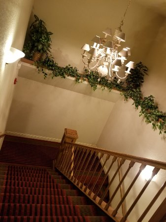 Comfort Inn at Founders Tower: Actually a pretty beautiful central staircase.