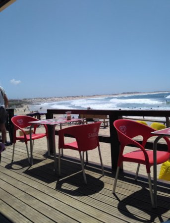 Peniche, Portugal : View to the beach and sea