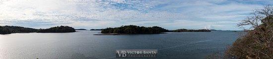 Isla Boca Brava, Panama: Panoramic view from the restaurant crows nest