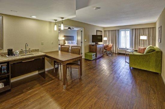 Fletcher, Kuzey Carolina: Accessible 2 queen suite living room