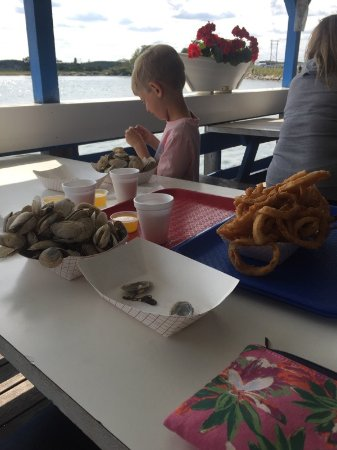 Seabrook, Nueva Hampshire: Steamers and onion rings