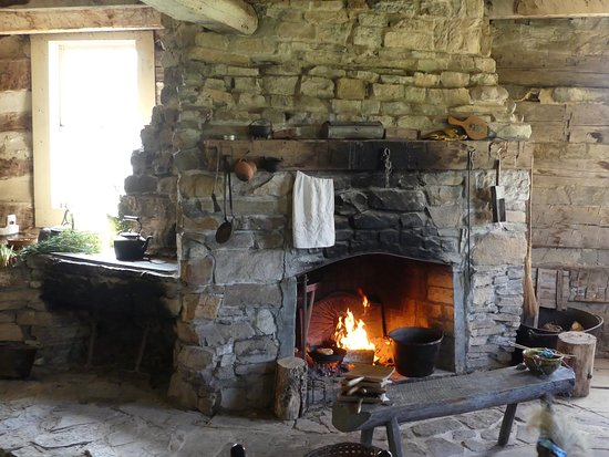 Dual Fireplace In Old German Settler Farm House Picture Of Old