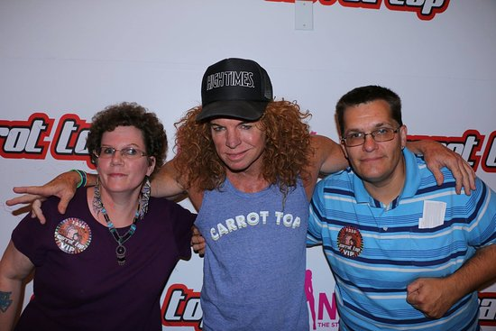 Meet and greet picture of carrot top las vegas tripadvisor carrot top meet and greet m4hsunfo Gallery