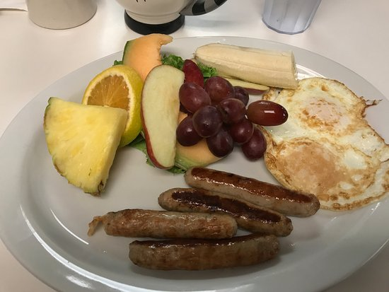 Sweetpea's: trucker breakfast and pancake or toast comes with it. yum