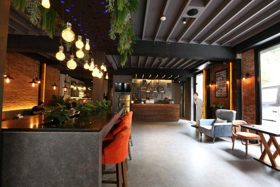 The Printing House Poshtel Front Desk And Letter Press Cafe Restaurant On 1st