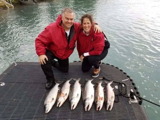 Mykel's: Our salmon catch for the day!