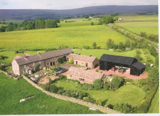 Kirkoswald, UK: Aerial view of Howscales Cottages