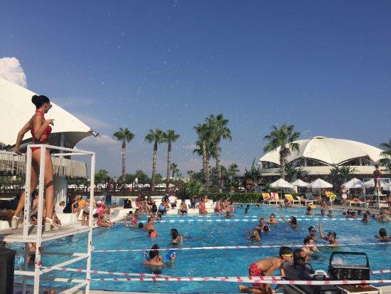 Kaya Palazzo Golf Resort: Palazzo pool party/activities self serve fridges  of water