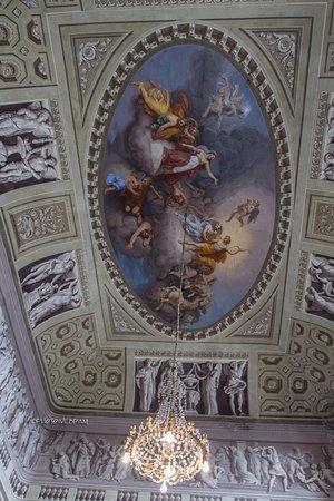 Govone, Italy: Soffitto del salone