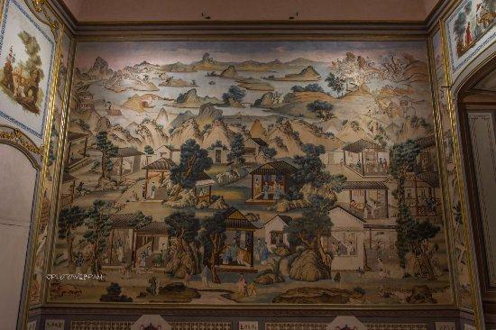 Govone, Italy: Parete in tappezzeria cinese