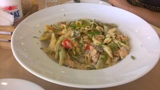 Kalamos, กรีซ: Pasta with salmon and vodka