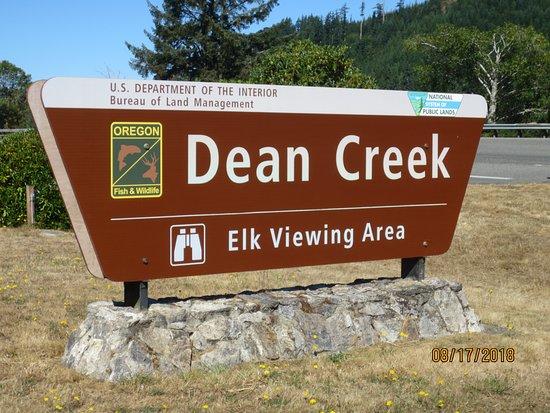 Reedsport, Орегон: sign at entrance