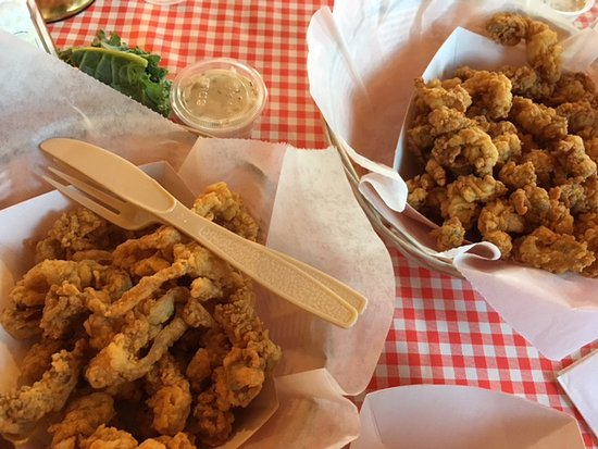 Moby Dick's: Lg. fried clam side; Lg. fried oyster side