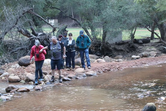 Clanwilliam, Νότια Αφρική: Crossing the river to get to hike up the side of the mountain