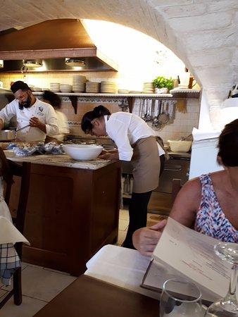 Cucina a vista! - Picture of La Cantina, Alberobello - TripAdvisor