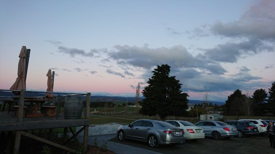 Legana, Australia: Parking at Timbre, dusk