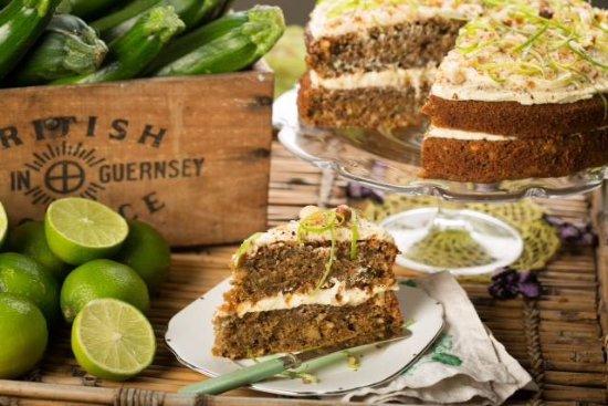 Overton, UK: Selection of freshly made cakes