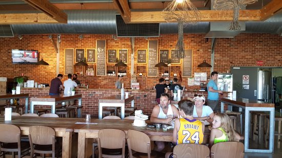 Cheeky Monkey Brewery and Cidery: Inside seating