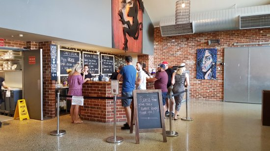 Cheeky Monkey Brewery and Cidery: Ordering counter
