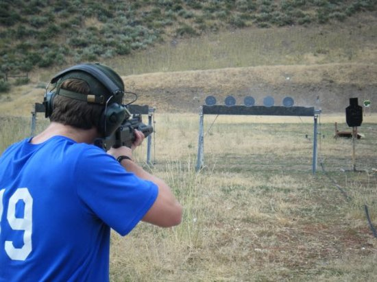 Sun Valley, ID: Plate rack shooting