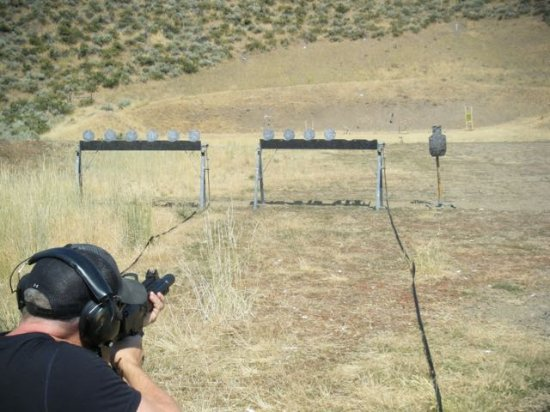 Sun Valley, ID: CZ Scorpion on the plate rack