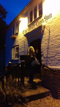 Pulborough, UK: My wife just going into the White Lion Inn