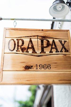 Orapax: Wood burned sign