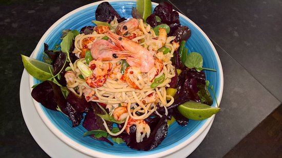 Clare, UK: Crayfish noodle salad, chilli and lime dressing