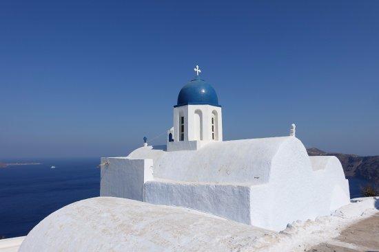 Imerovigli, Grekland: Panagia Theoskepasti Chapel