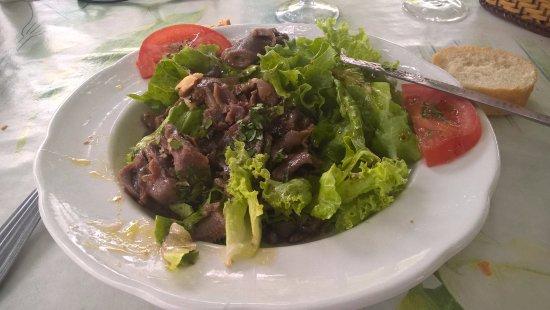 Salade de gésier, correct.