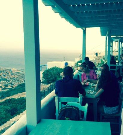 Δονούσα, Ελλάδα: View from the terrace.