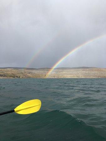 Iqaluit, Canada: Double rainbow