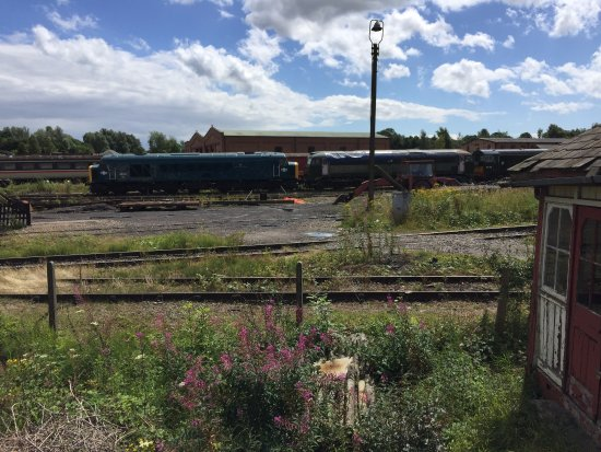 Ripley, UK : A typical view of the dilapidated Swanwick Junction site
