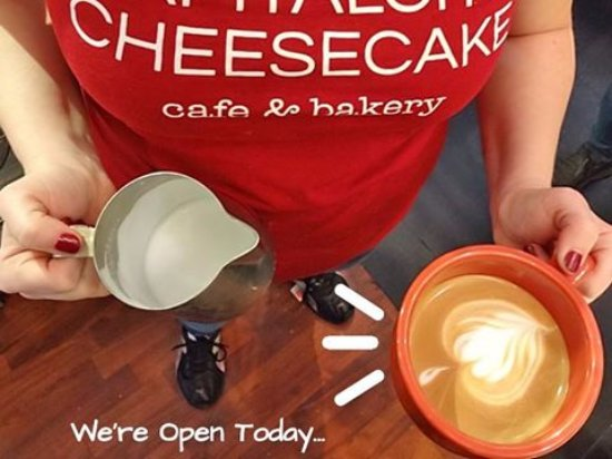 Takoma Park, MD: Capital City Cheesecake Bakery & Cafe is open 8 AM - 4 PM daily.