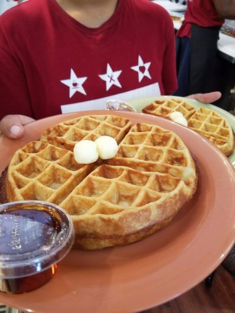 Takoma Park, MD: Capital City Cheesecake makes Buttermilk Waffles from scratch,