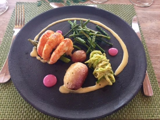Tanusas Retreat & Spa: camarones