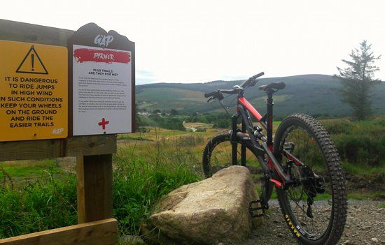 The Gap Glencullen Adventure Park: red trail back down