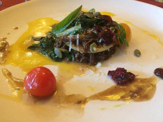 Calabogie, Canada: Braised lamb and pasta