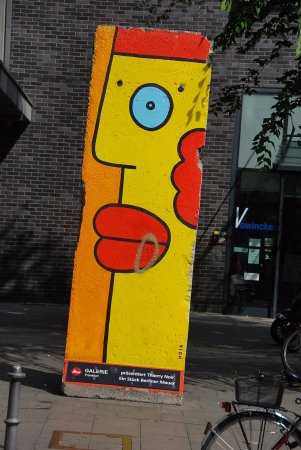 Some Berlin Wall on our walking tour of Frankfurt. - Picture of ...