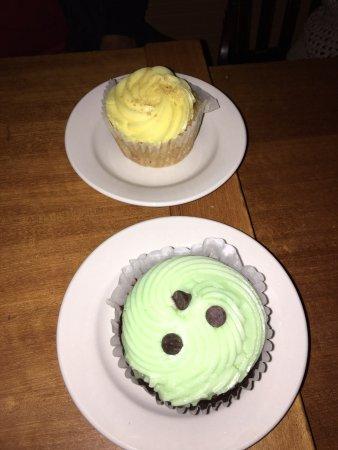 Montague, MA: Vegan cupcakes - lemon and mint chocolate
