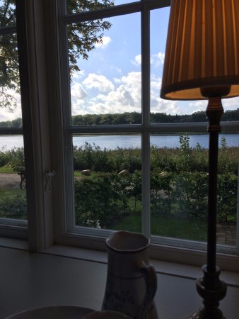 Sakskoebing, Denmark: View from our table