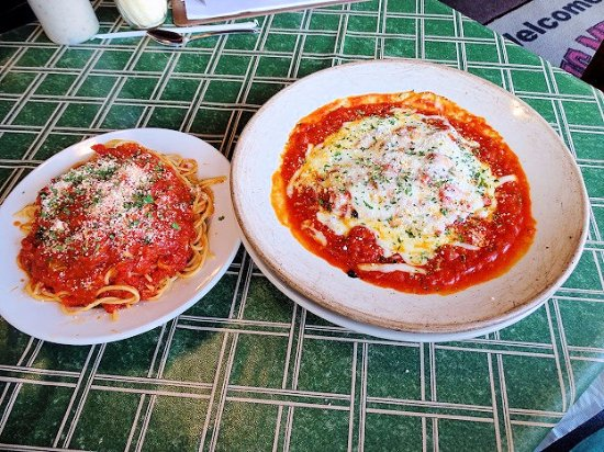 Brevard, NC: chicken parm with chicken that chewed back